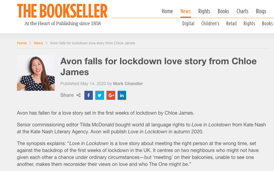 Bookseller article